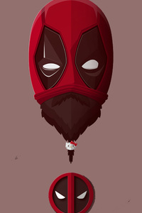 Bearded Deadpool Minimalism