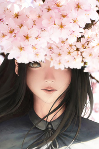 320x568 Beautiful Girl Anime