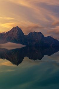 480x854 Beautiful Mountains Clear Reflection In Water