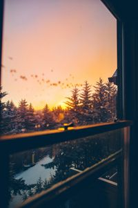 1080x2160 Beautiful Winter View From Window 5k