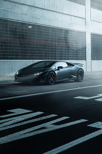 1440x2560 Black Lamborghini Huracan Supercar Vehicle