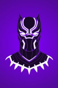 320x568 Black Panther 10k Art