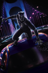640x1136 Black Panther 2018 Movie Poster