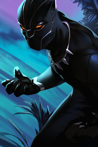 Black Panther Colorful Art