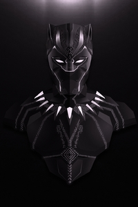 240x320 Black Panther Lowpoly Minimalist