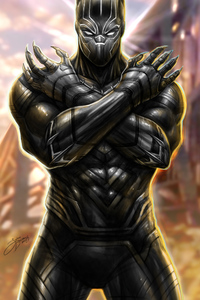 1125x2436 Black Panther New Arts