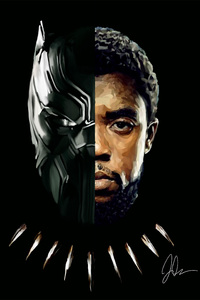 640x1136 Black Panther T Challa 2018 Artwork 5k