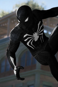 640x960 Black Spiderman 4k