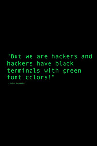 360x640 Black Terminals With Green Font Colors Quote