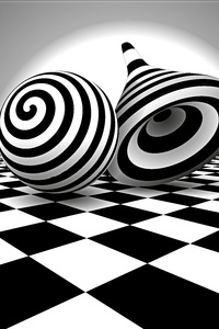 1440x2560 Black White Optical Illusion