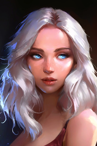 750x1334 Blonde Girl Fantasy Art