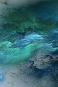 240x400 Blue Green Clouds