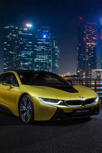 320x568 BMW I8 Frozen Yellow Edition