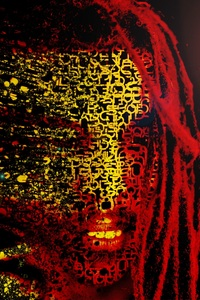 1080x2280 Bob Marley Mask Abstract Artwork 4k