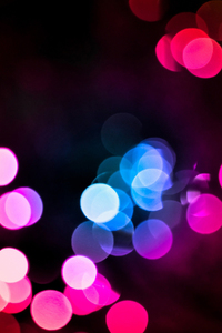 2160x3840 Bokeh Colorful Lights Blurred