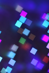 480x800 Bokeh Lights Pattern Texture Square Blurred Colorful