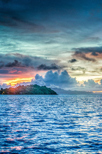 Bora Bora French Polynesia Sunset Ocean Pacific