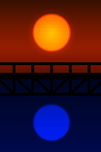640x960 Bridge Minimalistic 4k