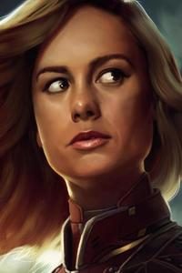 320x480 Brie Larson Captain Marvel Artwork