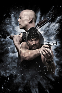 240x400 Bruce Willis And Jason Momoa In Once Upon A Time In Venice 4k