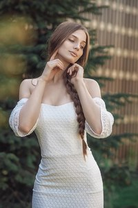 540x960 Brunette Girl In White Dress