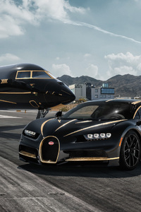 Bugatti Chiron And Private Jet