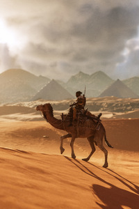 480x800 Camel Assassins Creed Origins 8k