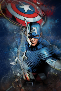 2160x3840 Captain America Artwork 4k