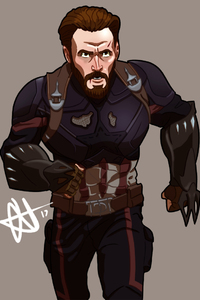360x640 Captain America Avengers Infinity War Artwork
