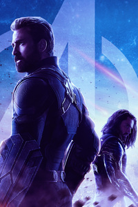 320x568 Captain America Avengers Infinity War Movie