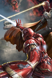 320x480 Captain America Civil War Art