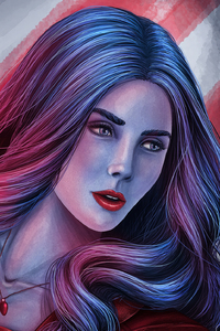 2160x3840 Captain America Civil War Scarlet Witch Art