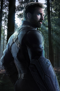 480x854 Captain America In Avengers Infinity War 2018 Fan Artwork