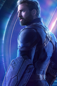480x854 Captain America In Avengers Infinity War New Poster