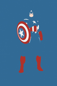 Captain America Marvel Comics Minimalism