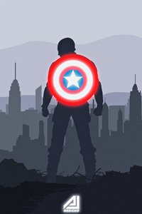 Captain America Shield Artwork