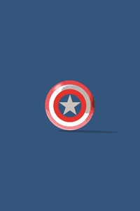 720x1280 Captain America Shield Minimalism