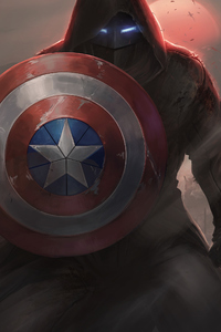 2160x3840 Captain America With His Shield Iron Mask Contest Of Champions