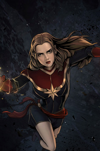 1440x2960 Captain Marvel Comic Artwork 4k