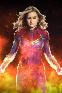 640x1136 Captain Marvel Movie 2019 4k Art