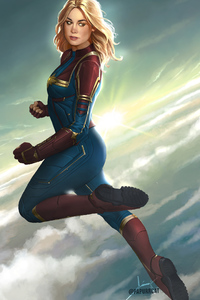 1080x2280 Captain Marvel New Artworks