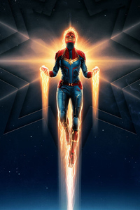 480x854 Captain Marvel New Poster 2019