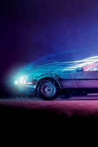 240x320 Car Lights Flame Back To The Future