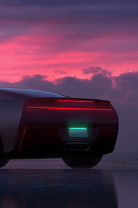 540x960 Car Pink Sunset