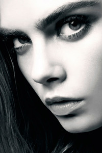 Cara Delevingne Close Monochrome