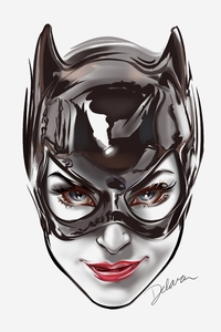Catwoman Face Artwork 8k