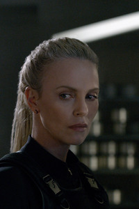 Charlize Theron Vin Diesel In The Fate of the Furious