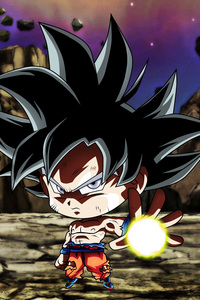 Chibi Frieza Goku Ultra Instinct Dragon Ball