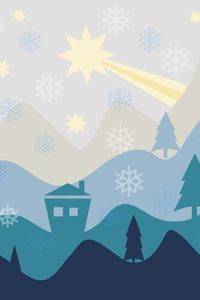 1280x2120 Christmas Flat Design Background