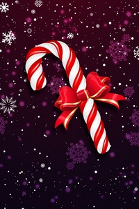 640x960 Christmas Lollipop Bowknot